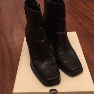 Bass Black bootie boots.